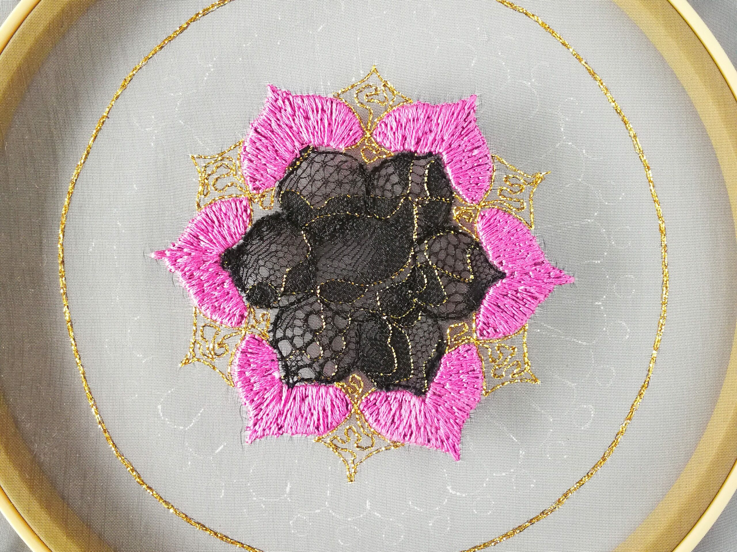 myembroiderypassions mandala rose satin stitch tutorial