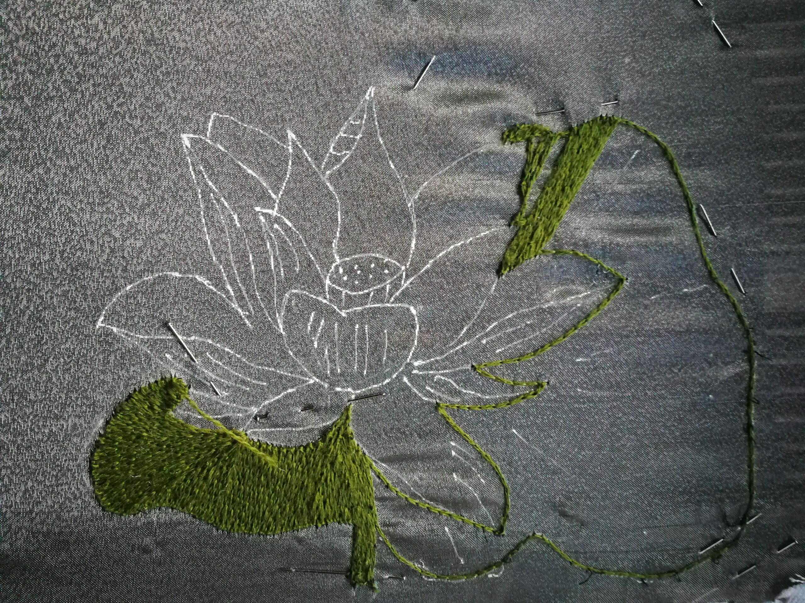 week 3 myembroiderypassions how to sew a hand embroidery flower design purse