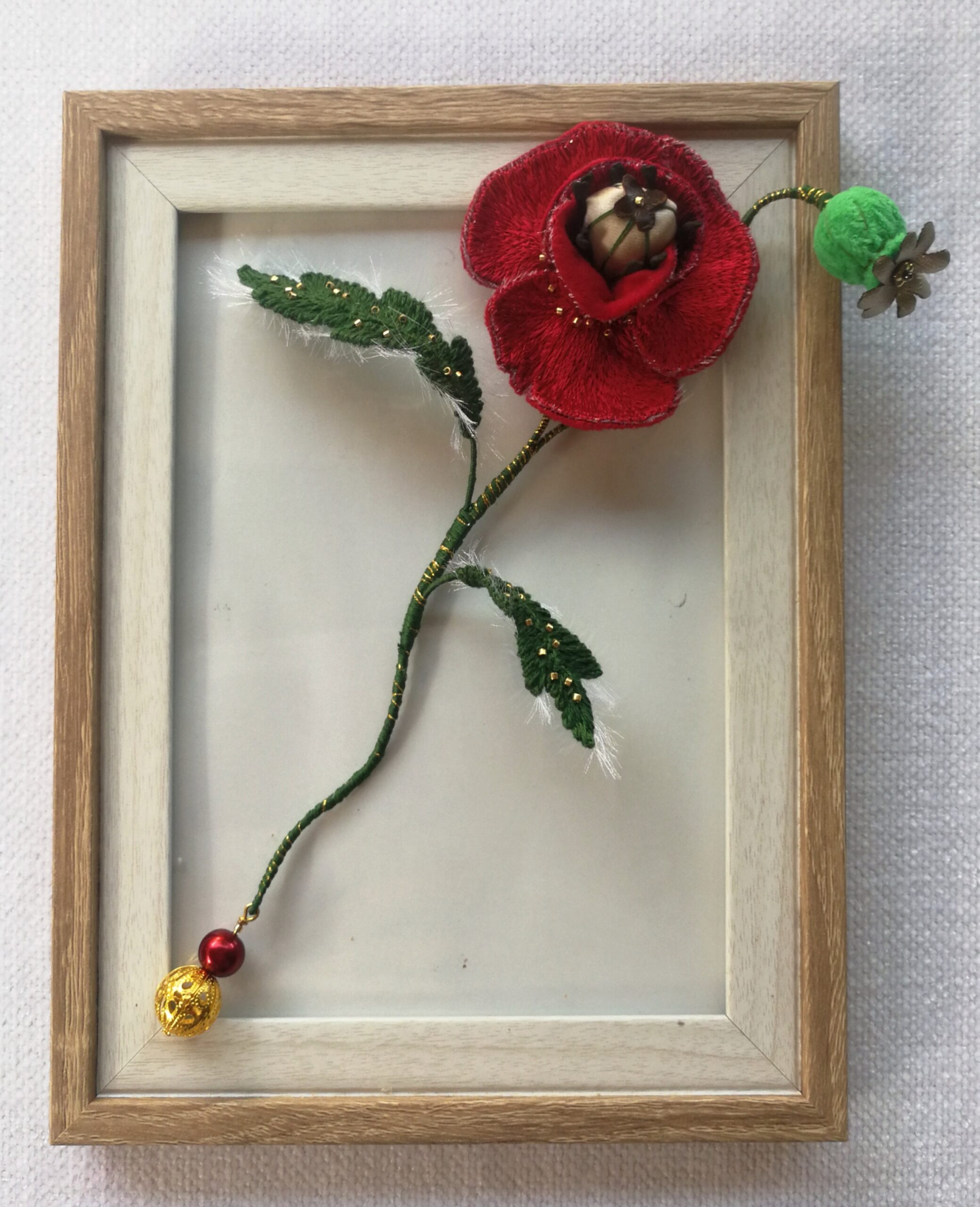 myembroiderypassions review Poppy Flower Online Hand Embroidery Class