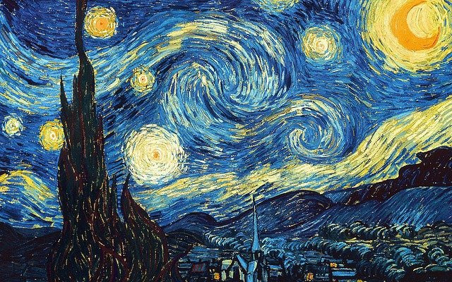 inspiration by van gogh starry night