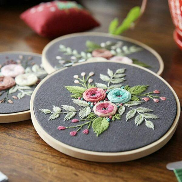 myembroiderypassions flower beginner embroidery kit