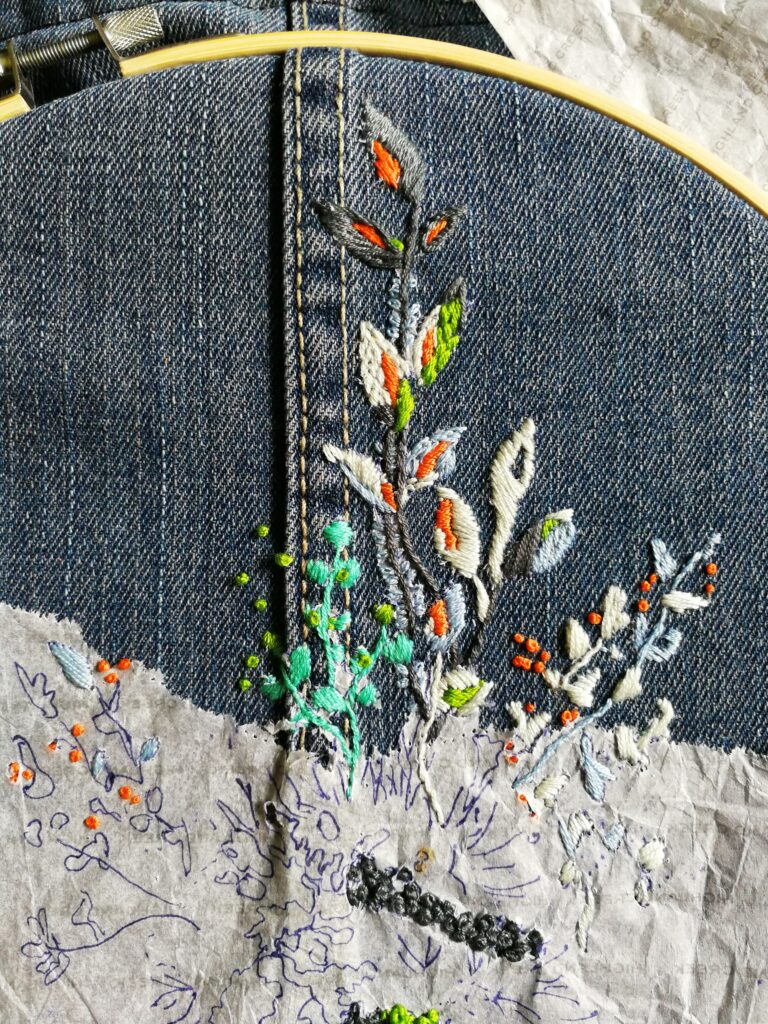 Hand Embroidery Design Pattern and Collaboration with Nini myembroiderypassions