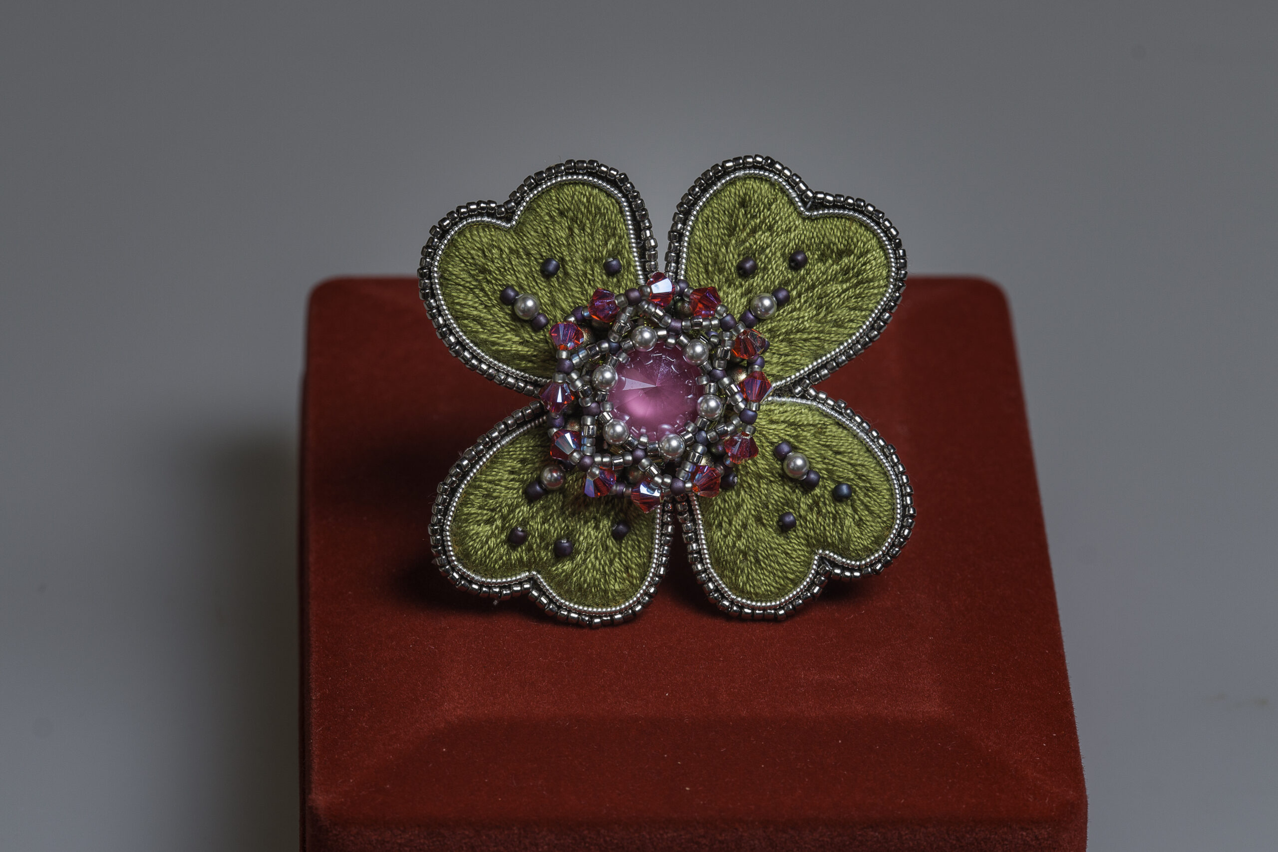 myembroiderypassions Luxury Brooch Lucky Clover