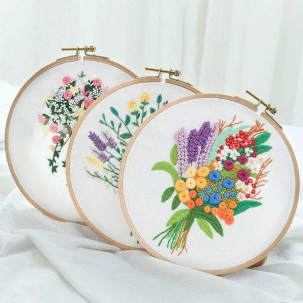 myembroiderypassions 3D bouquet flower embroidery kit