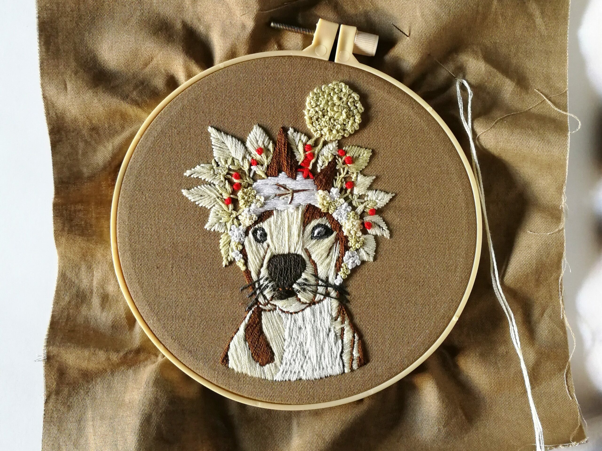 how to frame embroidery - first finish embroidery design