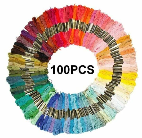 myembroiderypassions embroidery cotton thread 100 pcs pack