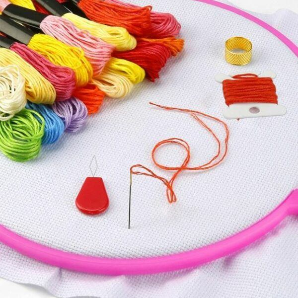myembroiderypassions PCS embroidery hoops and PCS embroidery Thread Kit